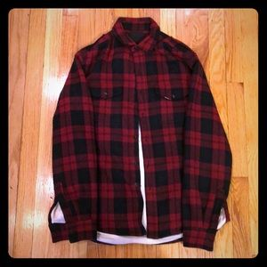 Idol Radec Red and Black Checked Light Jacket